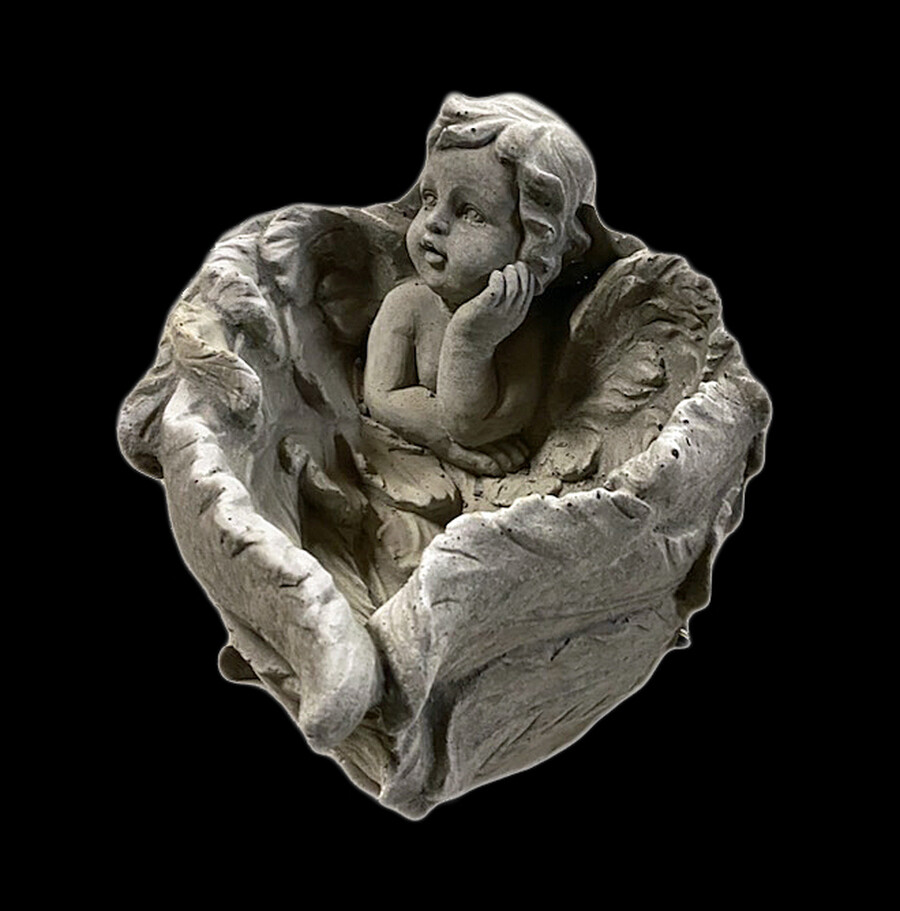Wrapped Wing Angel Planter