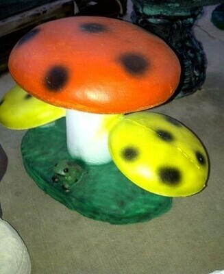 Lg. Flat Triple Mushrooms
