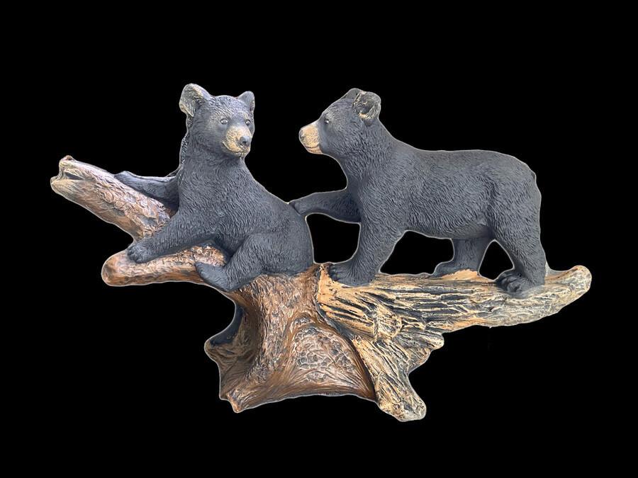 Bear Cubs on Log