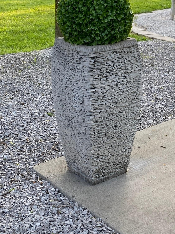 Tall Rock Pot