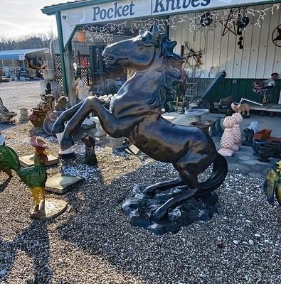 6' Rearing Horse Aluminum