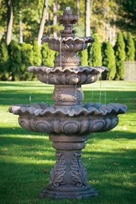 """86"""" Three Tier Scallop Fountain"""