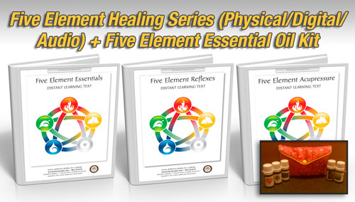 Five Element Healing Package, 18 hours (Hard Copy Courses) + 5 Element Essential Oil Kit