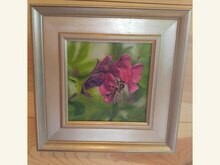 Bee Strong 6x6 Oil on Linen by Sonja A Kever