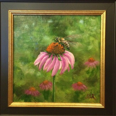 Arrived! 8x8 Oil on Linen by Sonja A Kever