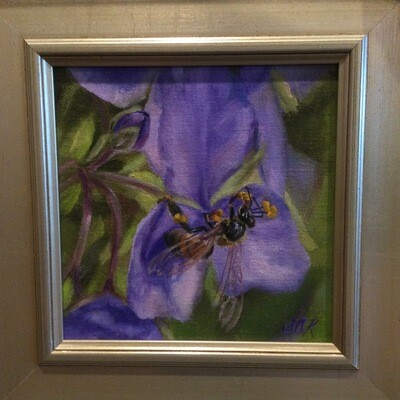 Bee's Knees 6x6 Oil on Linen by Sonja A Kever