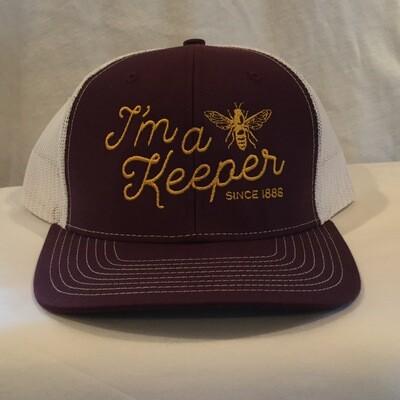 I'm a Keeper Hat Maroon