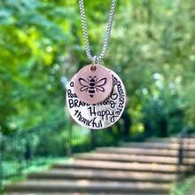 Bee Happy and Thankful Necklace