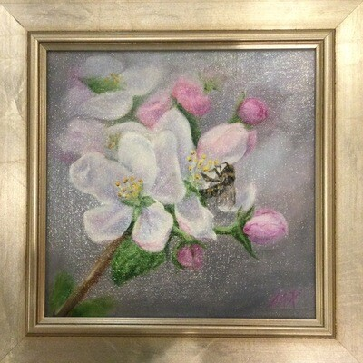 Spring Blooms 8x8 Oil on Linen by Sonja A Kever
