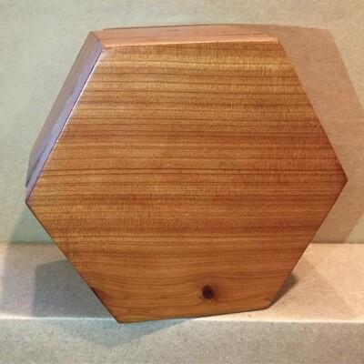 Hexagon Hideaway Cedar Box