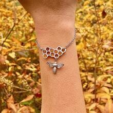 Honeycomb Bee Bracelet