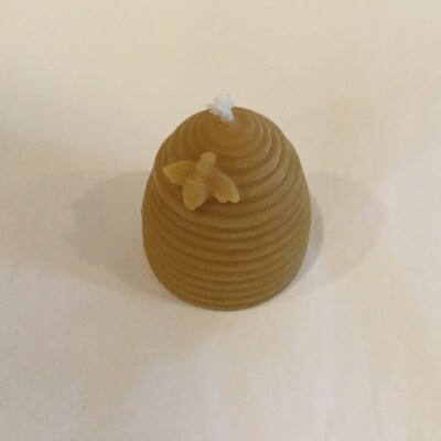 Skep w/Bee Beeswax Candle 2 oz