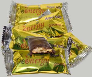 BEE Energy Bar - Dark Chocolate, Royal Jelly, Ginseng, & Honey