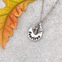 Bee Fearless Necklace - Silver
