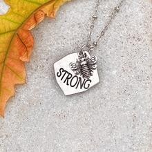 Bee Strong Necklace - Silver