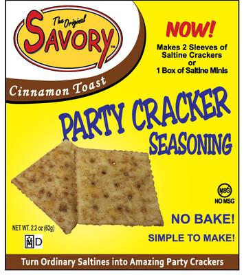 Savory Party Cracker Seasoning - Cinnamon Toast
