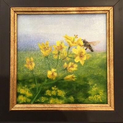 Summer Field 6x6 Oil on Linen by Sonja Kever