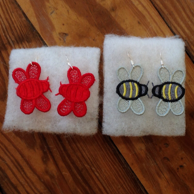Lace Bee Earrings