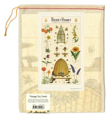 Bees & Honey Vintage Tea Towel