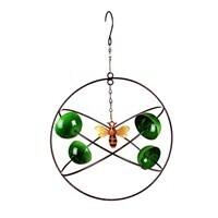 Green Circles Hanging Wind Twirler, Bee