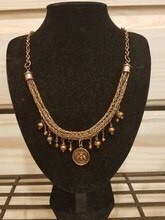 Woven Bee Necklace - Bronze