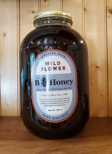 BeeWeaver Chemical Free Wildflower Honey - 1 Gallon Glass (Pick Up Only)