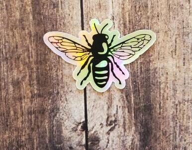 BeeWeaver Bee Holographic Logo Sticker