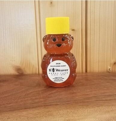 BeeWeaver Chemical Free Wildflower Honey - 2 oz Baby Bear