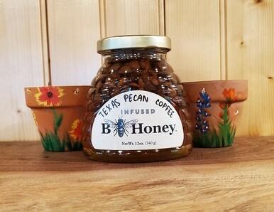 Texas Pecan Coffee Infused Honey - 12 oz Skep Jar
