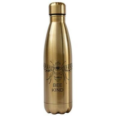 Bee Kind Double Walled Water Bottle (Gold)