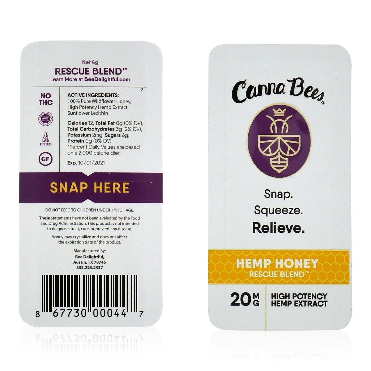 Canna Bees Single Snap Pack