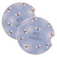 Bee Happy Car Coasters