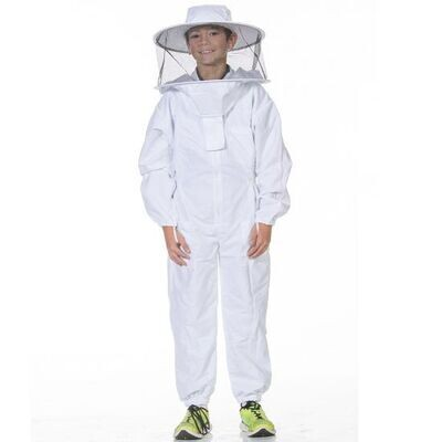 Youth Bee Suit w/ Round Veil - White