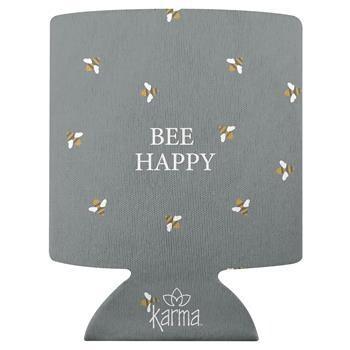 Bee Happy Can Cooler