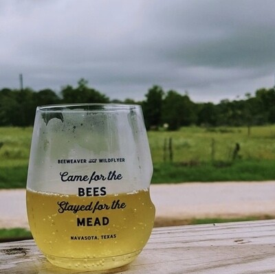 Came For The Bees Plastic Wine Glass
