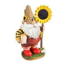 Honey Gnome with Sunflower Sign
