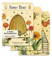 Bees & Honey Vintage Mini Notebooks - 3 Pack
