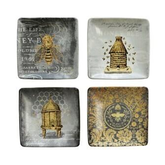 Stoneware Dish w/Bees