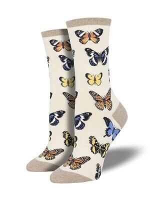 Butterfly Socks - Oatmeal