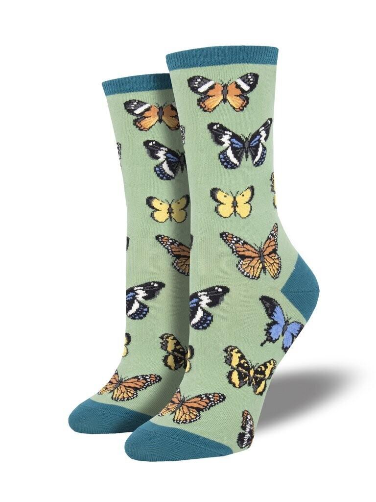 Butterfly Socks - Green