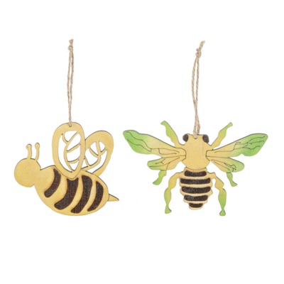 Wooden Bee Ornament