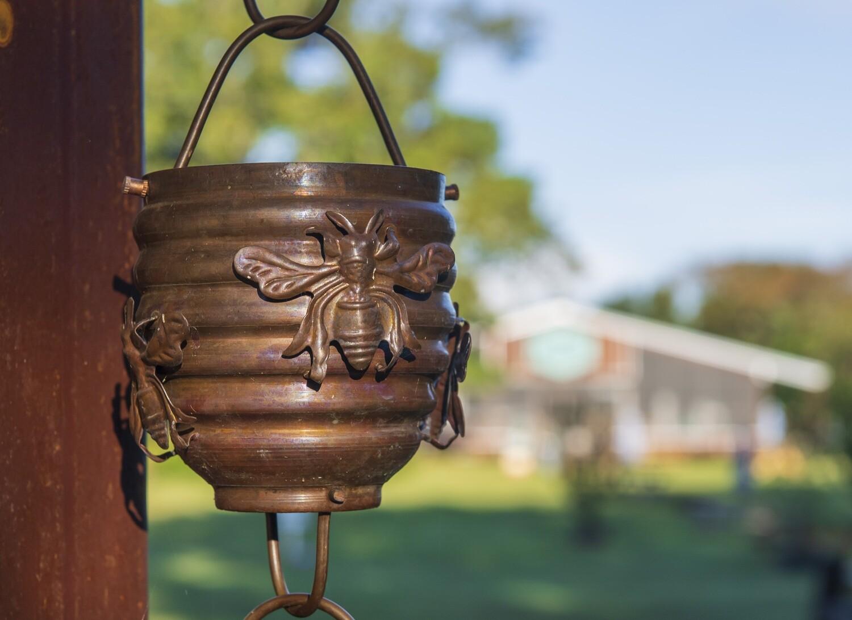 Honeybee Copper Rain Chain