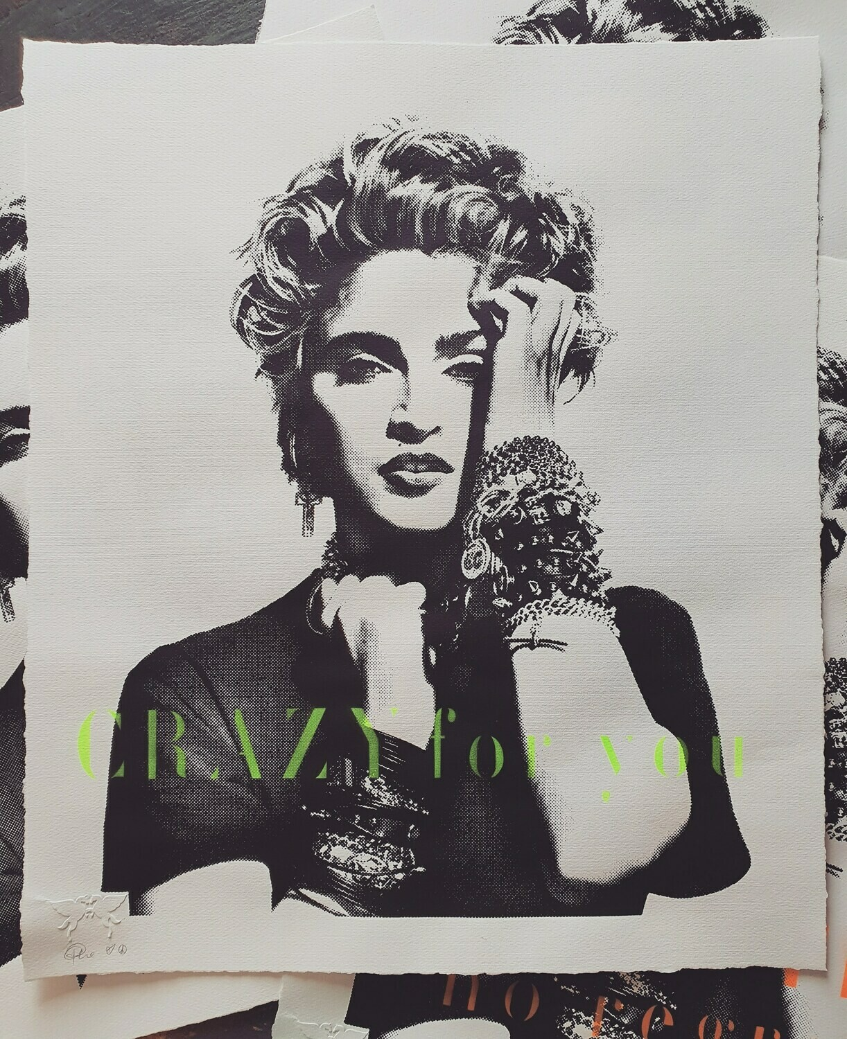 "Madonna ""CRAZY for you"" unframed"