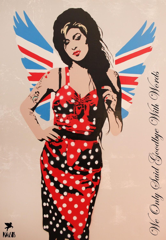 Amy Winehouse Fallen Angel Screen Print