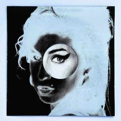 Amy Winehouse BLK/WHT LP Artwork Print