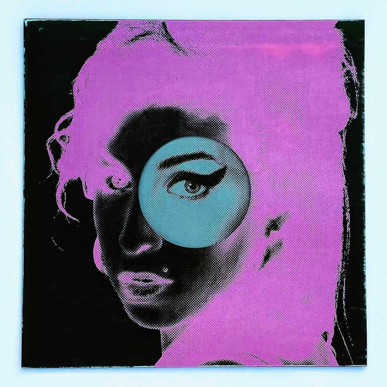 Amy Winehouse Bubblegum PNK/BLK LP Artwork Print