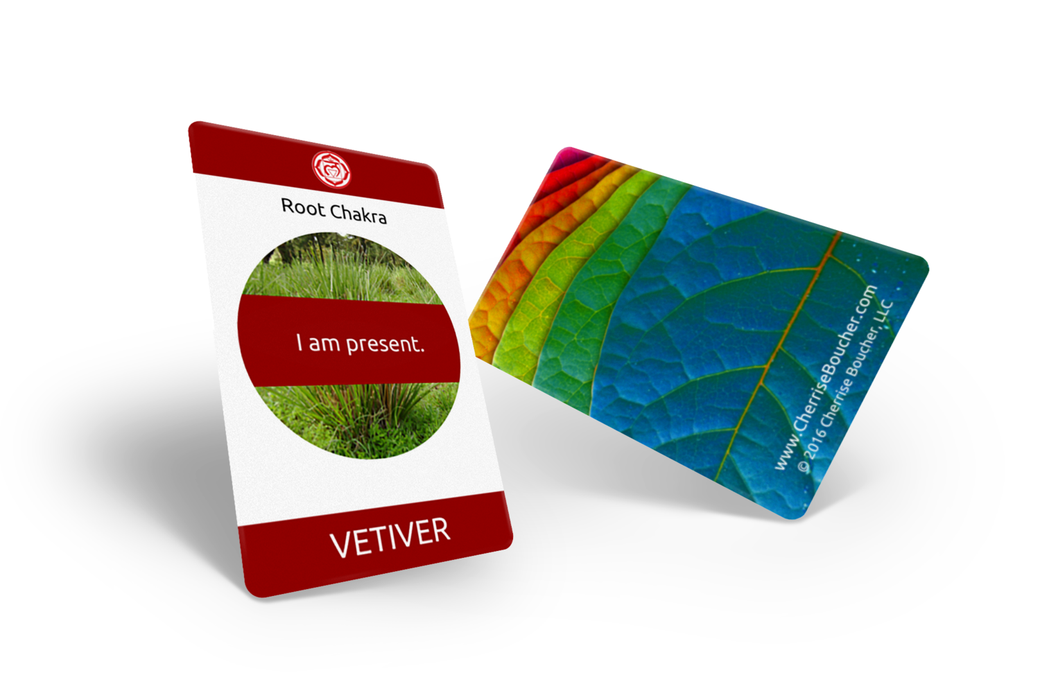Essential Oil Chakra Affirmation Cards
