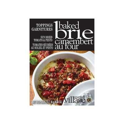 Brie Topping Sundried Tomato and Pesto