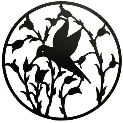 Metal Wall Art Hummingbird Circle