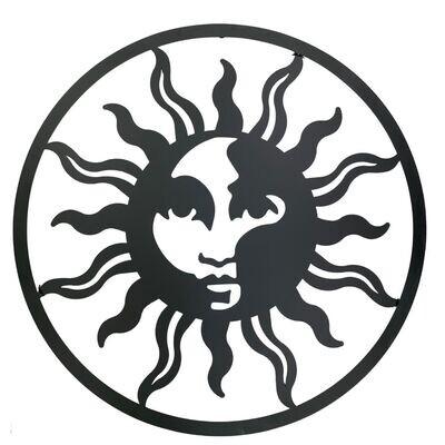 Metal Wall Art Sun Face Circle
